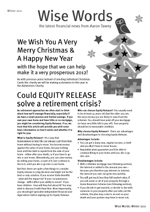 2011 Winter Wise Words Newsletter