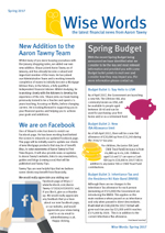 2017 Spring Wise Words Newsletter