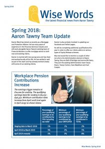 2018 Spring Wise Words Newsletter